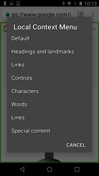 Global Context Menu