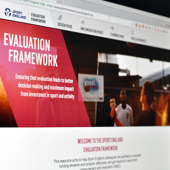 Screenshot of the Evaluation Framework Website