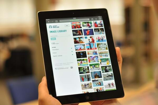 Image Library Website on Tablet