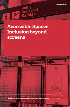 Front cover of our accessible spaces report